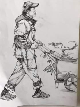 江山艺术培训学校速写图5