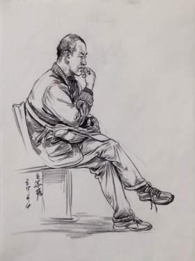 杭州国艺兄弟画室速写图2