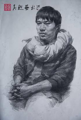 杭州吴越画室素描图7