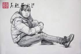 杭州吴越画室速写图1
