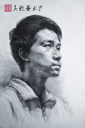 杭州吴越画室素描图6
