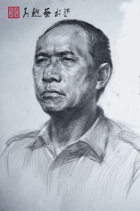 杭州吴越画室素描图8