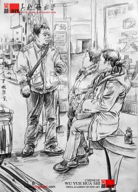 杭州吴越画室速写图3