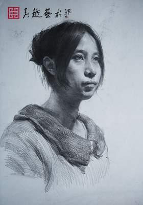 杭州吴越画室素描图3