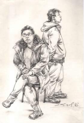北京校尉美术速写图6
