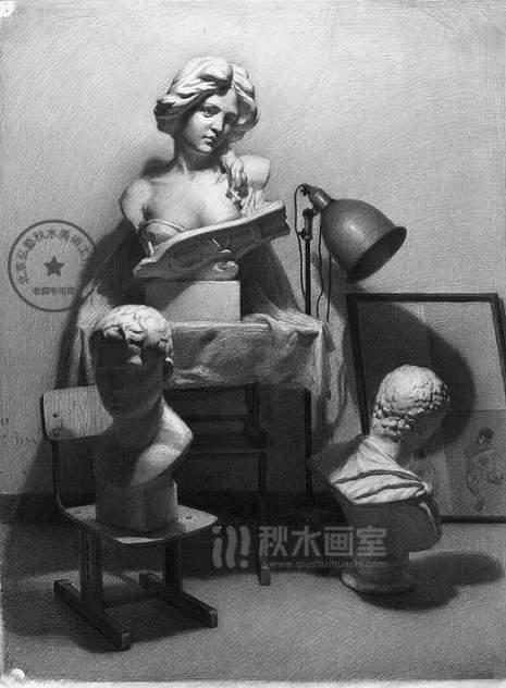 北京秋水画室素描图3