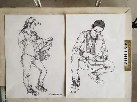 哈尔滨美苑艺新文化艺术学校速写图2