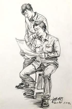 安徽空间美术学校速写图8