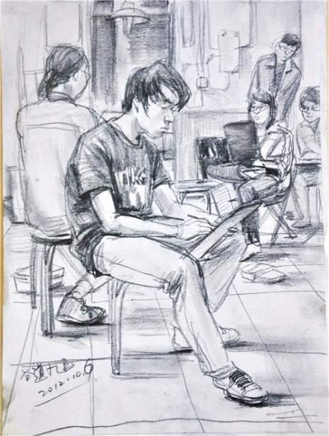 北京南街8号画室速写图6