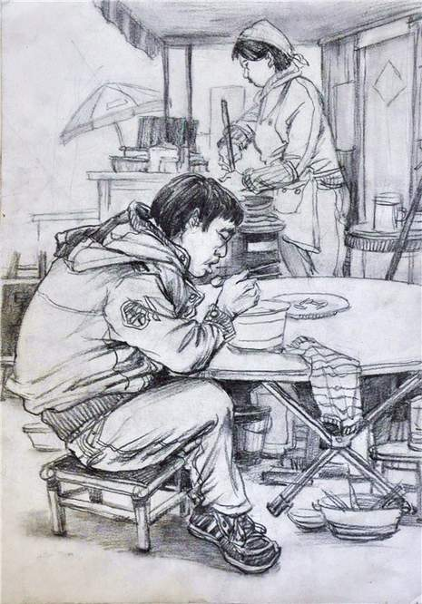 北京南街8号画室速写图3