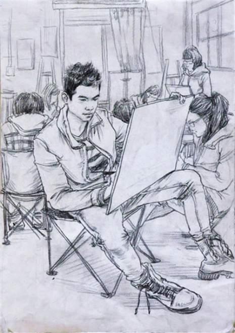 北京南街8号画室速写图1