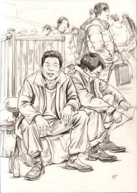 杭州东昱画室速写图3