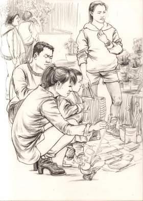 杭州東昱畫室速寫圖6