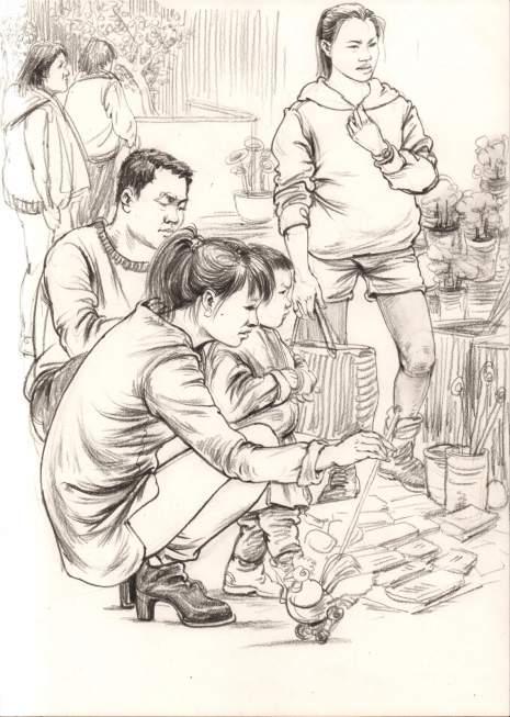 杭州东昱画室速写图6