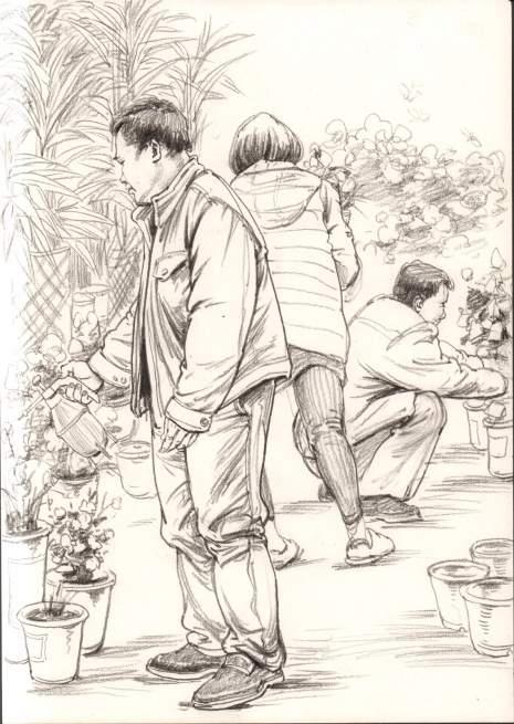 杭州东昱画室速写图5