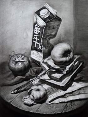 南昌白塔岭画室素描图2