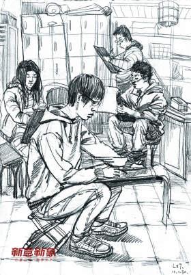 北京新意新象画室速写图7