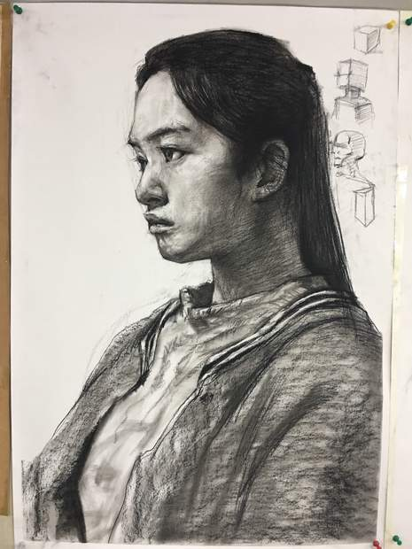 济南山师美术培训中心素描图6