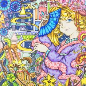 彩色装饰画