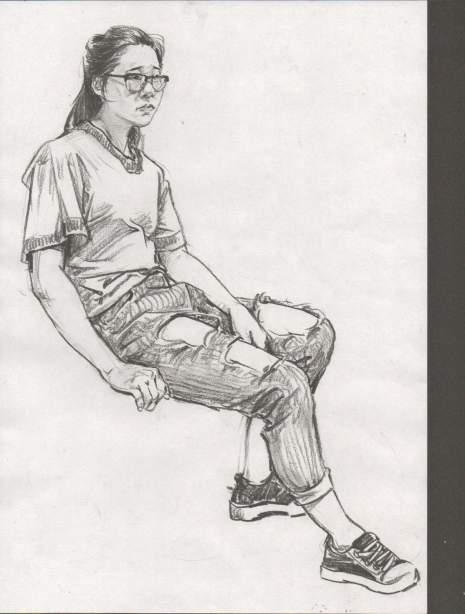 哈尔滨龙艺艺术学院速写图6