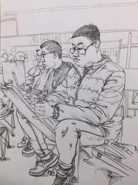 天津INK画室速写图1