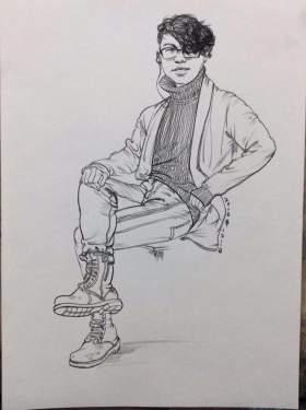 天津INK画室速写图8