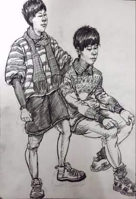 合肥海鹰美术学校速写图4
