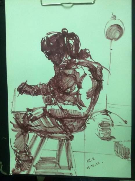 呼和浩特几维国际艺术教育速写图7