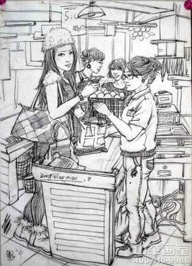 天津中举美术教育速写图8