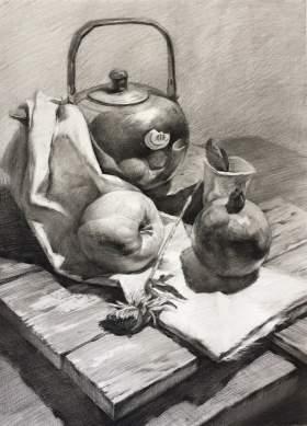 西安兄弟画室美术培训学校素描图5