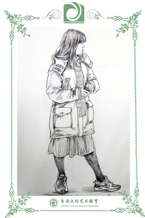 哈尔滨自由文化艺术学校速写图7