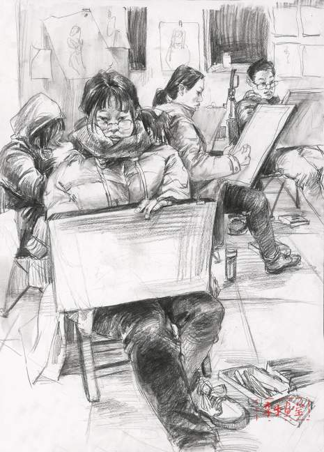 杭州孪生画室速写图4
