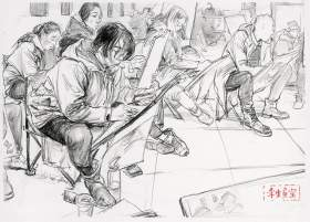 杭州孪生画室速写图6