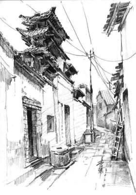 成都红土地画室速写图2