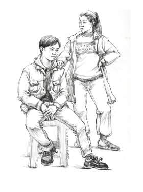 济南小泽画室素描图3