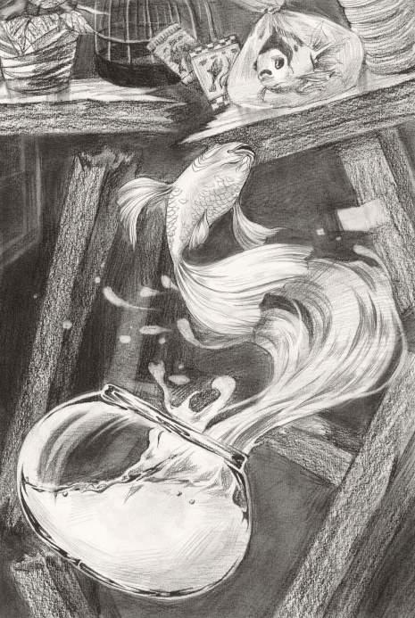 清美屹立画室素描图4