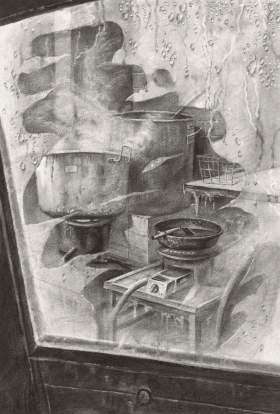 清美屹立画室素描图5