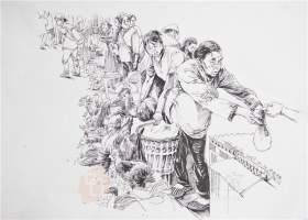 武汉求索传奇画室速写图3