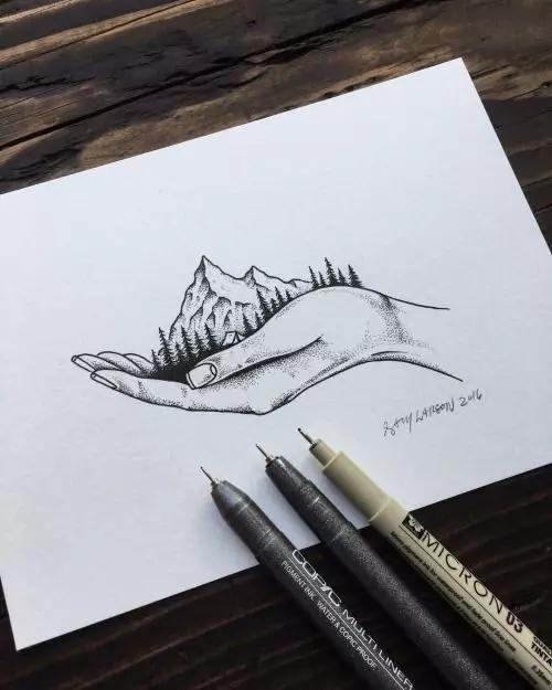 49 Best Ink Me Images On Pinterest: 手绘针管笔是有多简单,看完我已经学会!