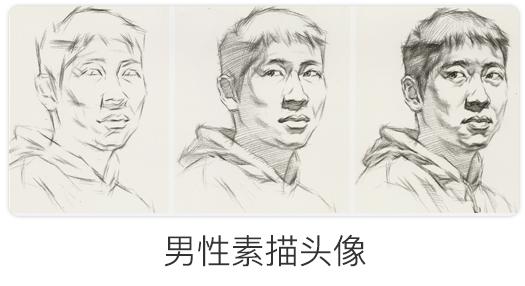 男性素描头像